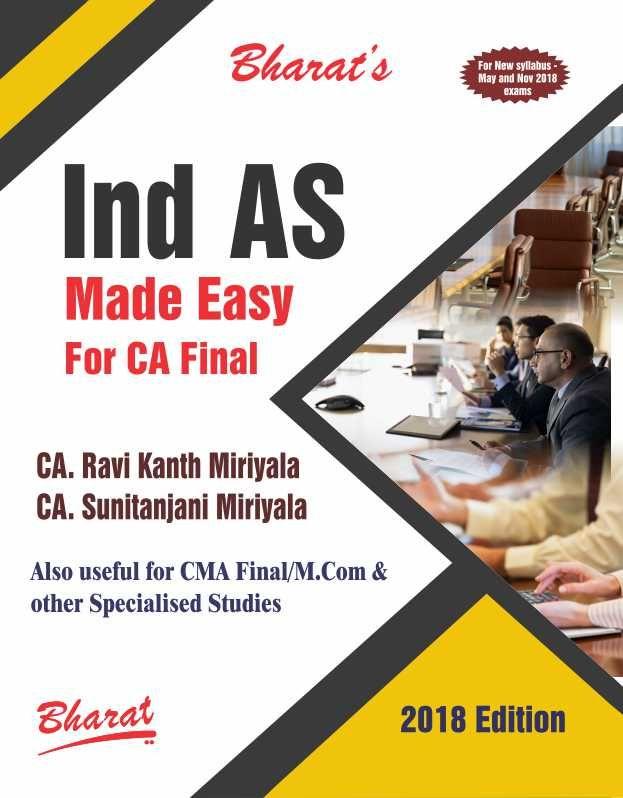 Ind AS Made Easy For CA Final #BuyNow @ www.meripustak.com/pid-150967 #IndASmadeEasyForCAFinal, #InventoryValuation, #CashFlowStatement, #ForeignExchangeRates, #AccountingForGovernmentGrants, #AccountingForInvestments, #EmployeeBenefits, #FinancialReporting, #Accounting, #CharteredAccountant, #CARaviKantMiriyala #CASunitanjaniMiriyala, #CABooks, #CA #CAIntermediate #CAFinal, #CMA, #CMAFinal, #AcademicBooks, #ProfessionalBooks, #OnlineBookstore, #BuyBooksOnline in #India