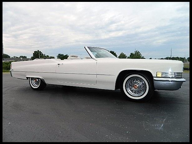 Triple White 70 Cadillac Deville Convertible White