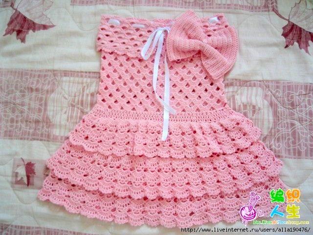moldes de vestidos a crochet para niña (4)