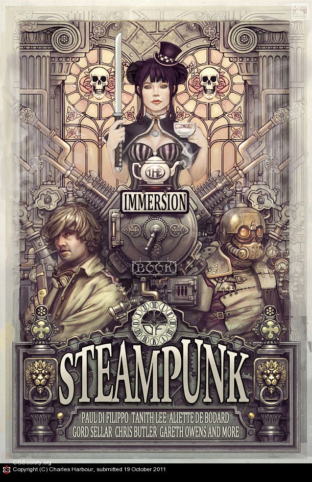 Art nouveau? Steam punk? Love the 'less-color' impression. #immersion