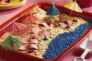JELL-O® Beach Dessert recipe.  I'm going to attempt to make this for my nephew's pool party.