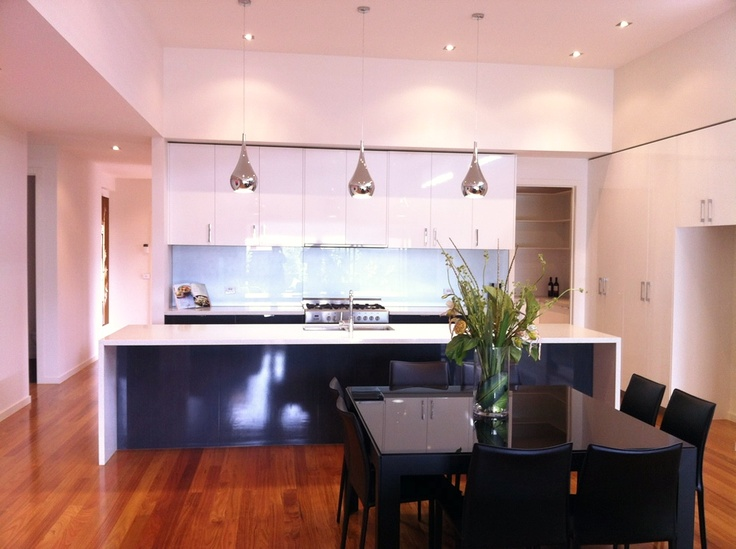 Love this kitchen - Mosswood Homes - Seascape - gorgeous silver splashback