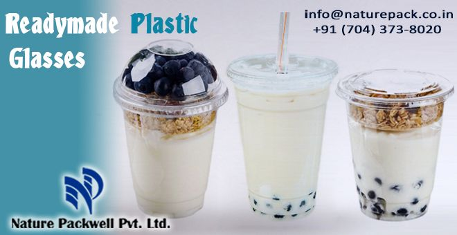 Readymade Plastic Glasses http://naturepack.co.in/