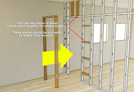 Install Metal Studs For The Home Steel Frame