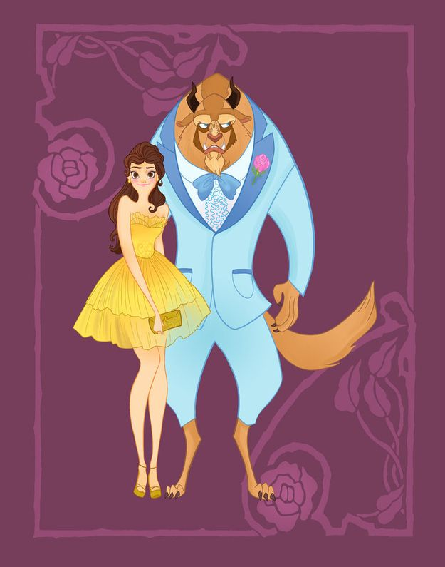 Belle and Beast - Beauty and the Beast | 14 Disney Couples Go To Prom