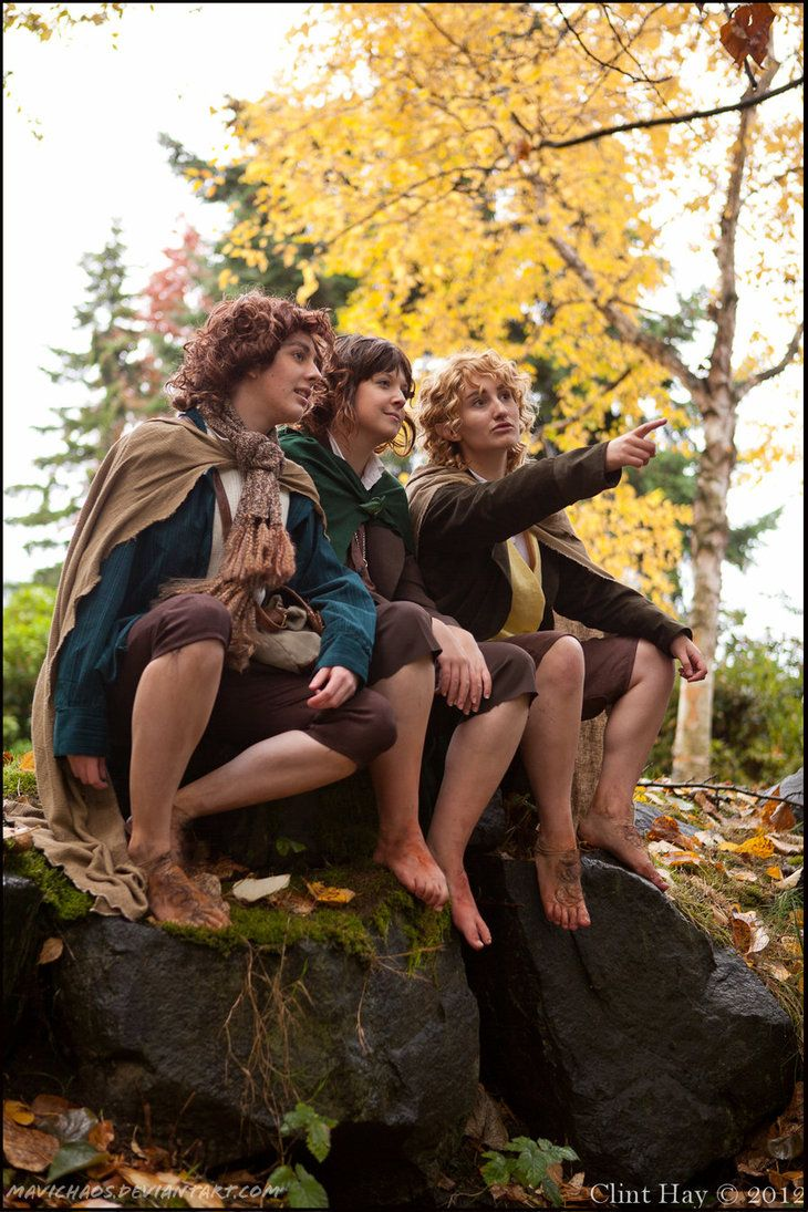 Hobbitses - The Lord of the Rings Cosplayers: (individually credited here) http://mavichaos.deviantart.com/art/The-Hobbits-339069585