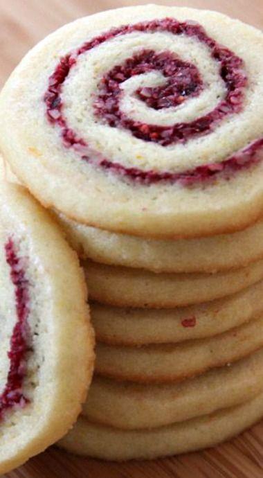 Cranberry-Orange Pinwheel Cookies