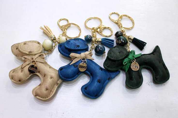Dog decoration for bags or key-holders