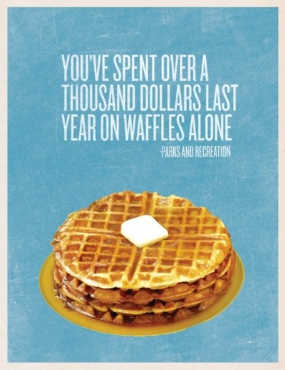wafflesGlorious Food, Parks And Recreation, Waffles Recipe, Money Well, National Waffles, Leslie Knope Parks And Rec, Breakfast Recipe, Design, Favorite Recipemash