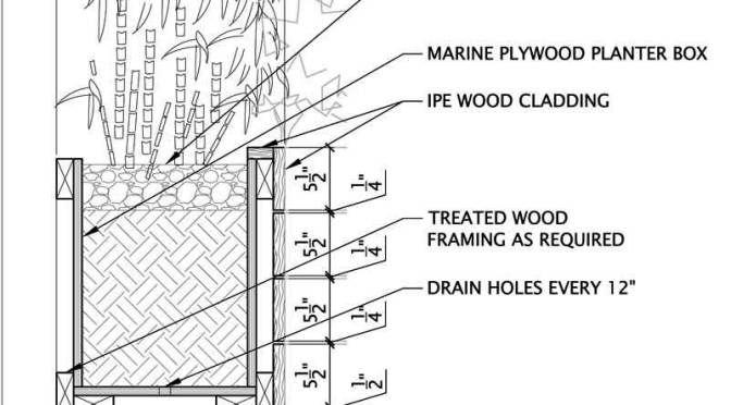 Image Result For Planter Section Detail Wood Stu1603