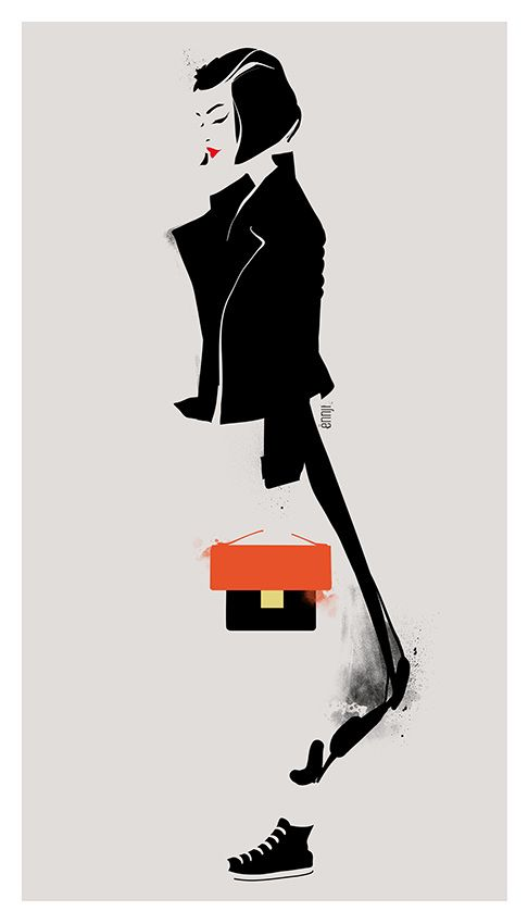 Ënnji. Fashion illustration on ArtLuxe Designs. #artluxedesigns