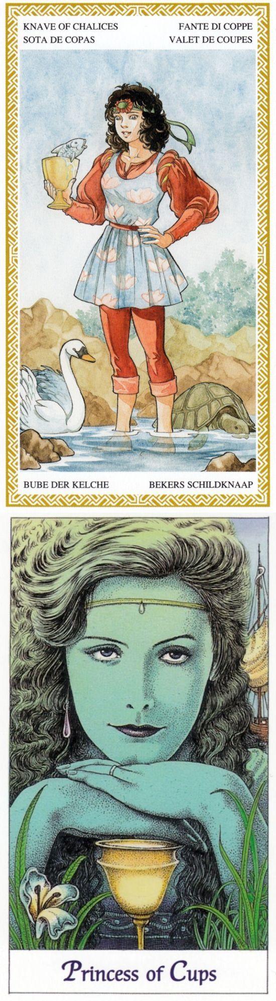 Page of Cups: inner child and escapism (reverse). Loscarabeo Tarot deck and Cosmic Tarot deck: taro on line gratis, read online free vs tarotaries. Best 2018 gotham and tarot cards tattoo. #tarotapp #halloween2017 #ios #oldways #tarotmeanings