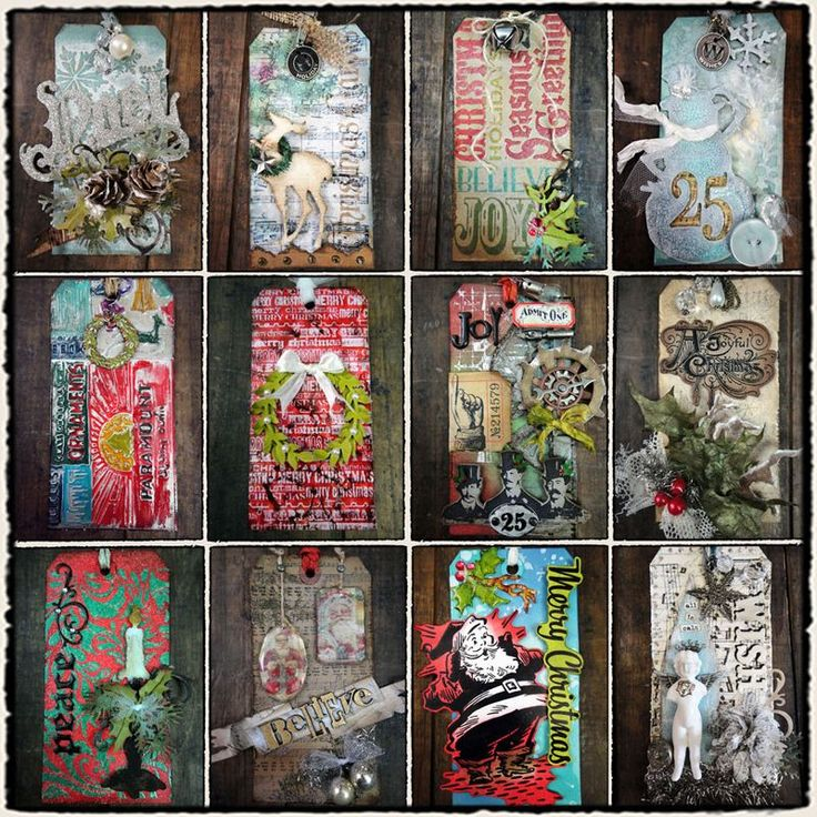 T!m Holtz Twelve Tags of Christmas, great inspiration and techniques.  Each one is a mini work of art.
