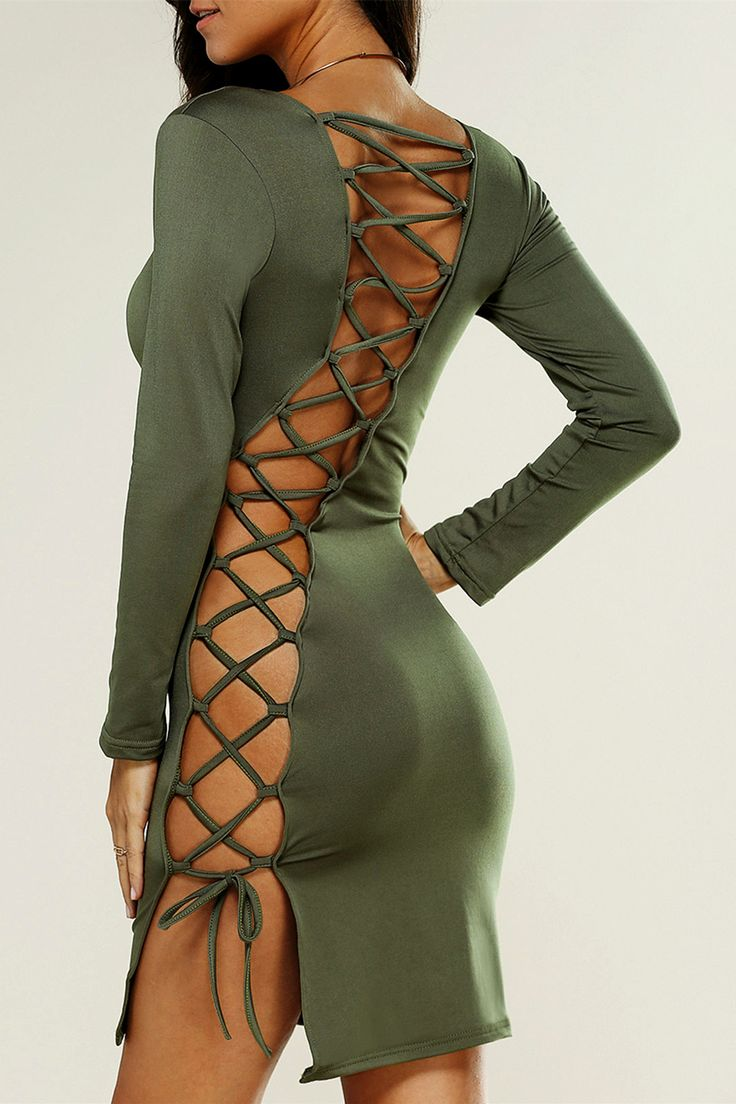 $13.14 Cut Out Backless Mini Skinny Dress