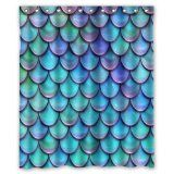Fish Scales Shower Curtain $36.39 www.mermaidhomedecor.com - Mermaid NEW (3)