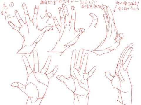 「手」の描き方を分かりやすく解説したイラストをご紹介します!