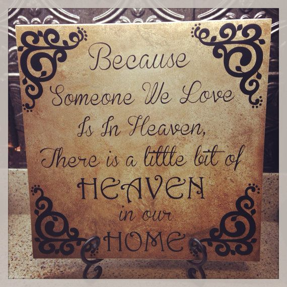 Memory tile 12 x 12 custom made to order personalized great gift funeral memory heaven and home on Etsy, $20.00