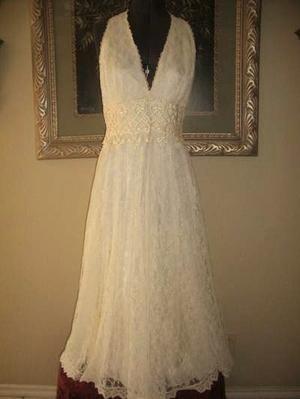 Vintage inspired Jessica McClintock wedding dress