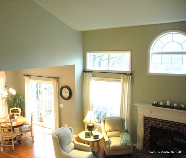 The walls and ceilings were painted sherwin williams for Sherwin williams ceiling paint colors