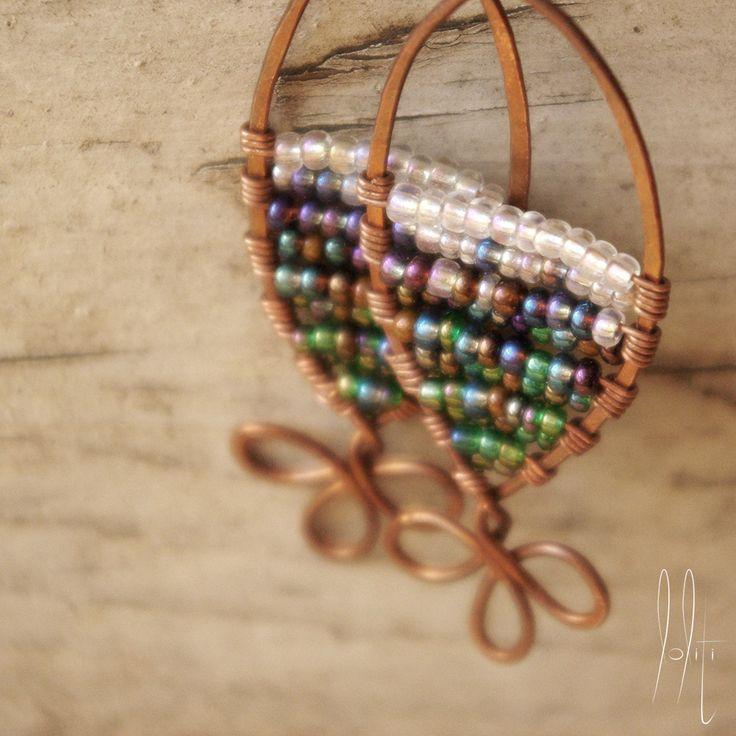 loliti::copper earings https://www.facebook.com/loliti.studio/