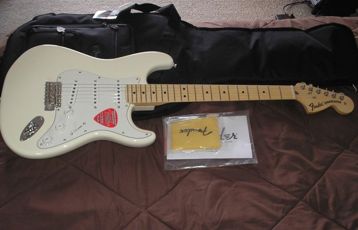 Fender American Special Stratocaster 2017 Strat Guitar NEW Olympic White Maple