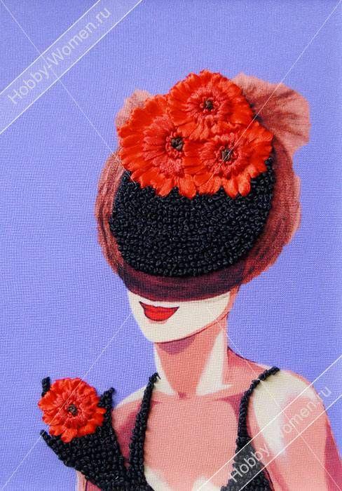 Набор для вышивания лентами Woman-Hobby ВЛШС0006 Серия шляпки №6