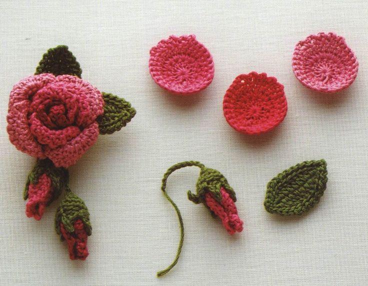 283 besten Häkeln Blumen crochet Flower Bilder auf Pinterest ...