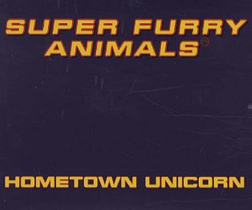 Super Furry Animals Hometown Unicorn 1996 UK CD single CRESCD222P: SUPER FURRY ANIMALS Hometown Unicorn (UK 3-track promotional CD single…