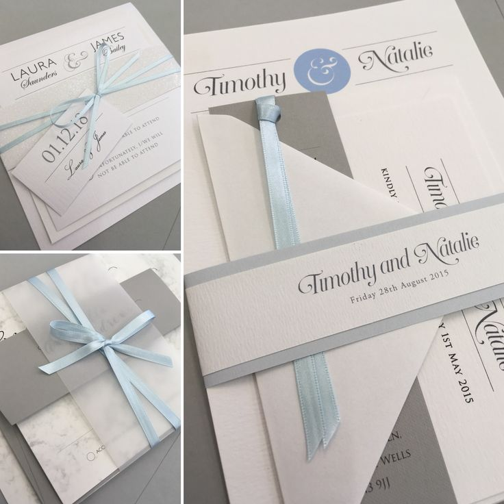 Blue wedding invitations Beautiful wedding stationery lovingly
