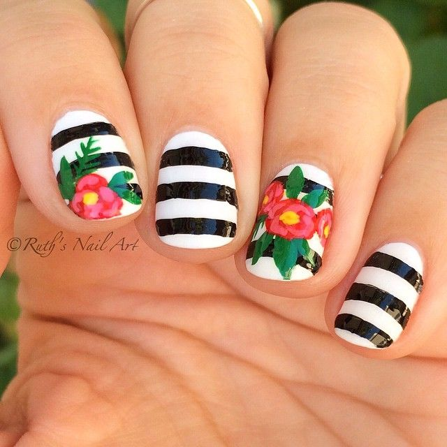 Stripe Nail Art: 25+ Best Ideas About Striped Nails On Pinterest