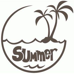 Silhouette Design Store: summer disk