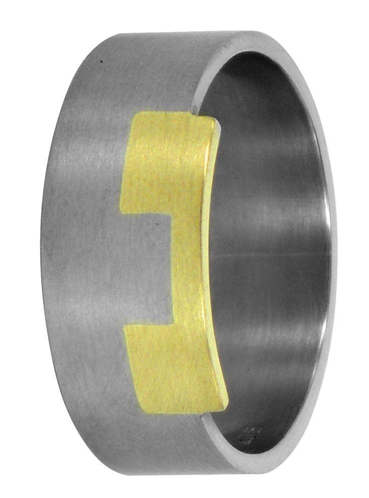 Cutout rectangular wedding ring