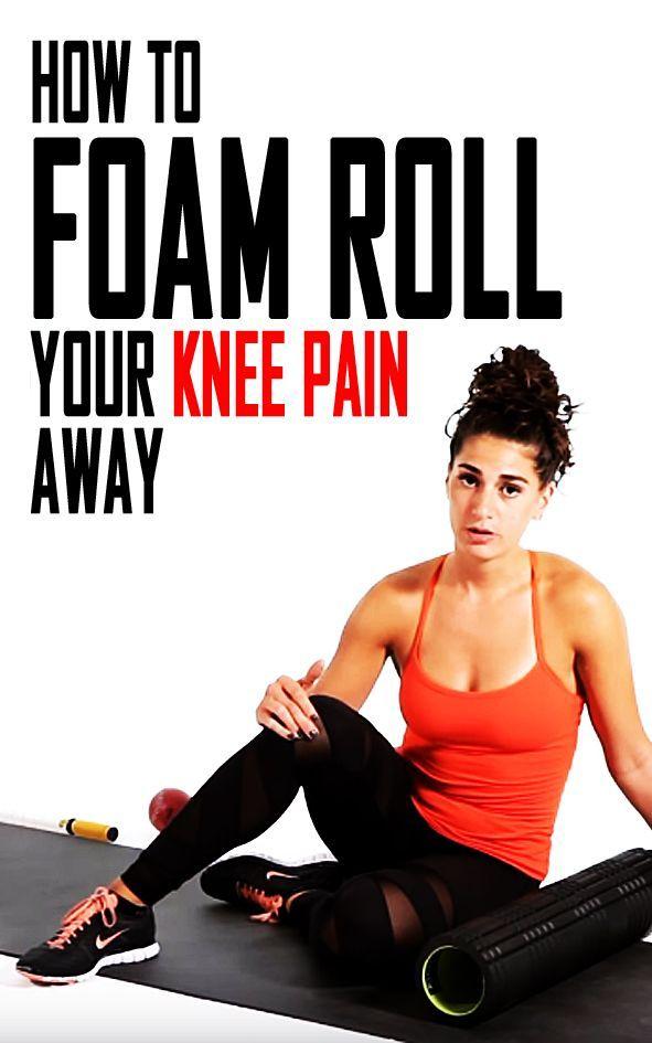 How to foam roll your knee pain away. #foamrolling #kneepain #runninginjury