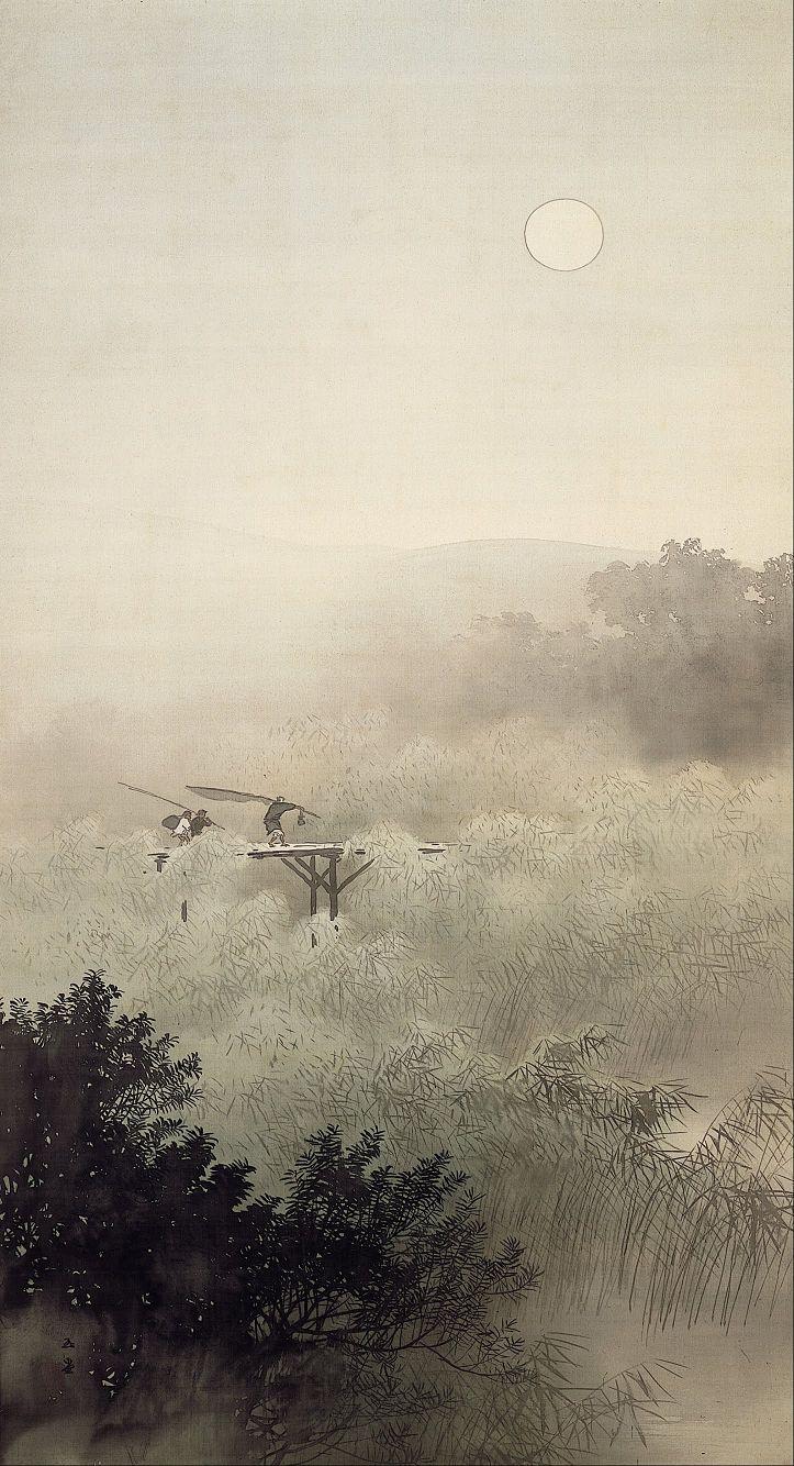 夕月夜 Moonlit Evening, 1913, Adachi Museum of Art Takeuchi Seihō (1873 - 1957) See archive for more: HERE