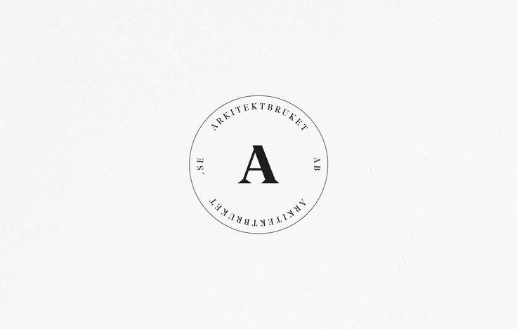 A clean emblem for architecture firm Arkitektbrukets brand identity  — Emblem design, en del av  arkitektbrukets grafiska profil