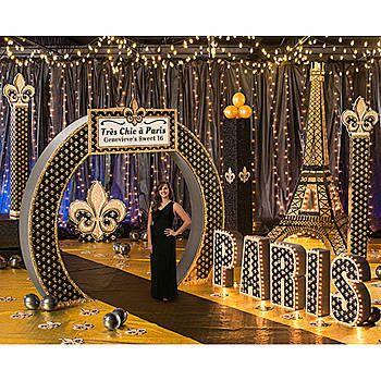 tres chic paris theme kit prom paris by moonlight theme pinterest paris theme paris and. Black Bedroom Furniture Sets. Home Design Ideas