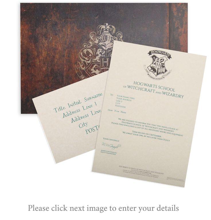 Ponad 25 najlepszych pomysłów na Pintereście na temat Hogwarts - hogwarts acceptance letter