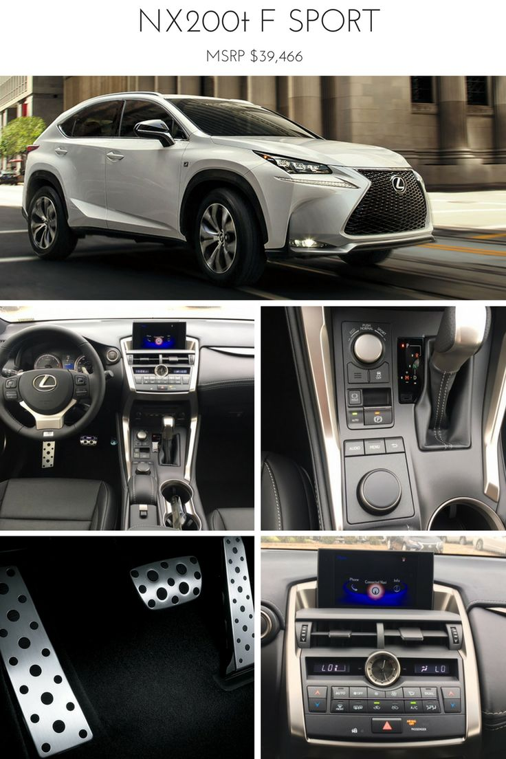The lexus nx200t f sport base model available now at north park lexus at dominion