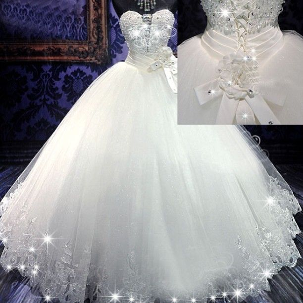 8 best Beautiful Wedding Dresses images on Pinterest Dream