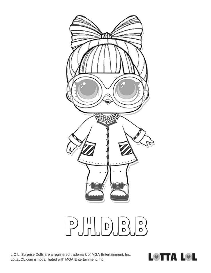 PHDBB Coloring Page Lotta LOL