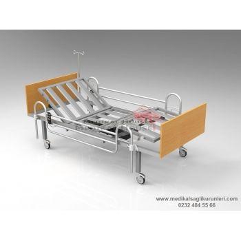 Elektrikli Hasta Karyolası (2 Motorlu - Ahşap Başlıklı)