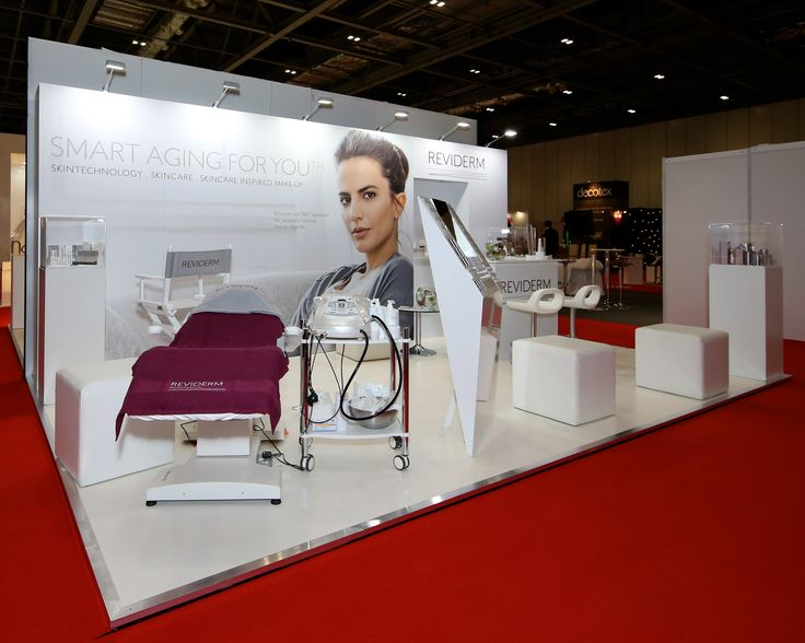 A simple but effective stand for Reviderm who exhibited for the first time at Professional Beauty London in February 2016