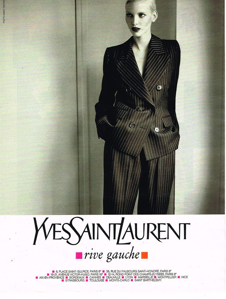 1995 Yves Saint Laurent Rive Gauche. Nadja Auermann models.