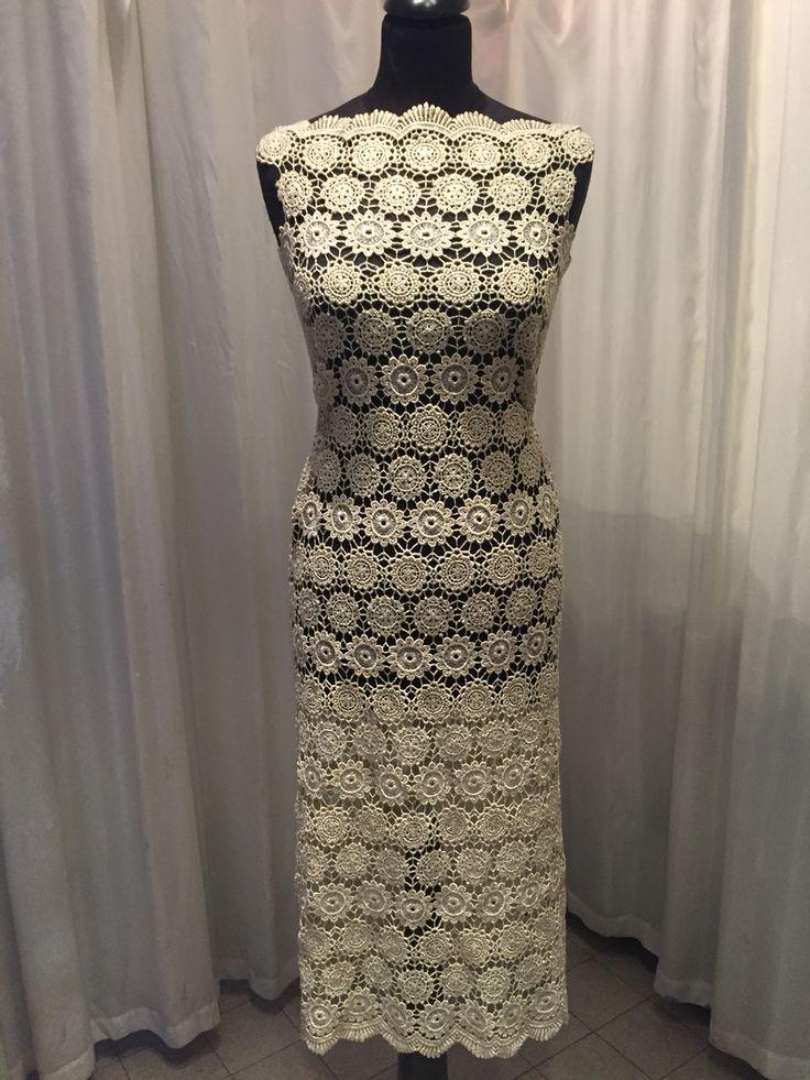 Golden lace dress
