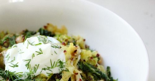 ... Clean: Toasted Quinoa and Cabbage Salad with olives and fresh dill