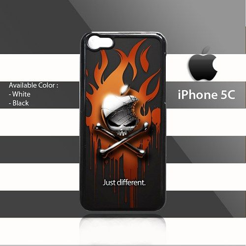 Skull Fire Apple iPhone 5c Rubber Case Cover