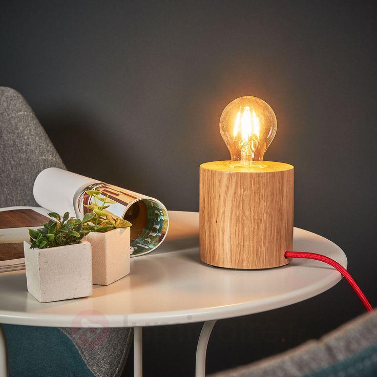 Lampe à poser bois Trongo, au design épuré, référence 8574251 - Lampes et luminaires en bois  - Esprit nature à découvrir chez Luminaire.fr !