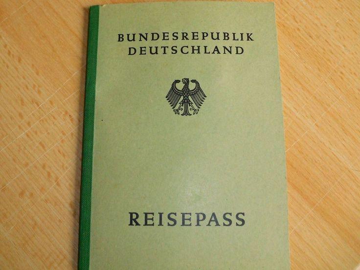 Reisepass Bundesrepublik Deutschland 1955