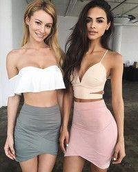 11$ Wish | 2016 Summer Women Asymmetrical Geometric Shape Irregular wrap dress Mini Skirts Tight skirt wrapped skirt