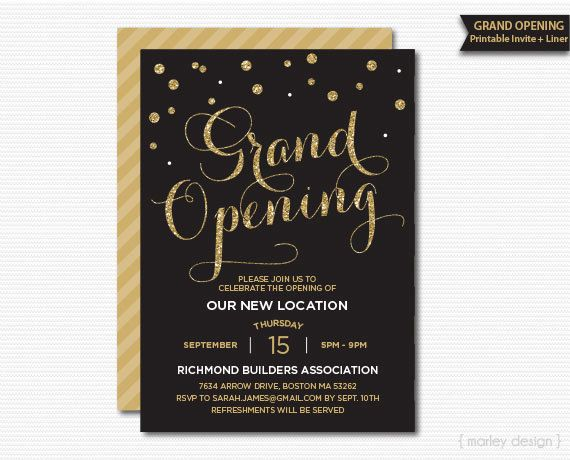 9 best ideas images on Pinterest Design posters, Grand opening - how to make invitations with microsoft word